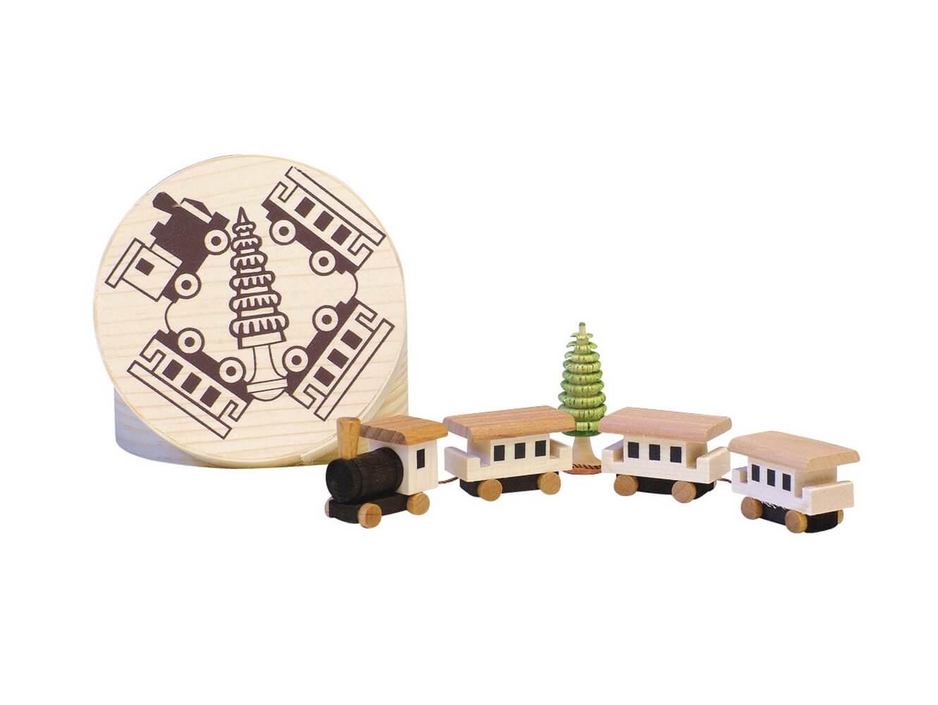 Knuth Neuber, Spanschachtel mit Eisenbahn