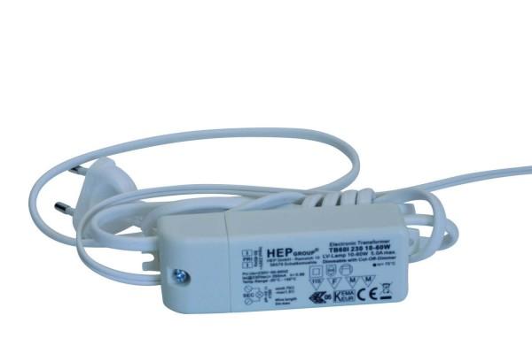 Schalterleitung mit eingebautem Trafo 1,5 m, Spannung 230 V ~ 11,5 V, max 60 Watt