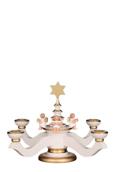 Adventsleuchter, weiß, 20 cm von Christian UlbrichtGmbH & Co KG Seiffen/ Erzgebirge
