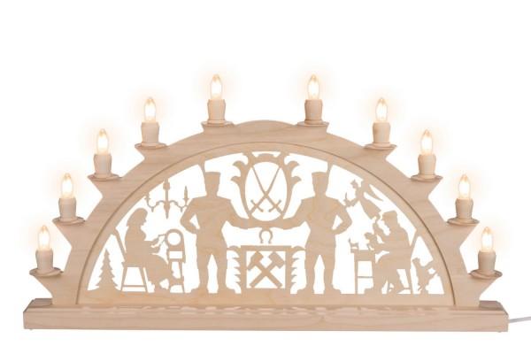 LED Schwibbogen Schwarzenberger, elektrisch beleuchtet mit LED, 60 x 30 cm, 10 Kerzen, Nestler-Seiffen.com OHG Seiffen/ Erzgebirge