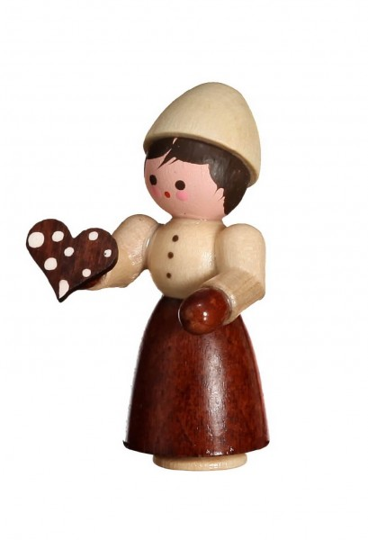 Die Figur Gretel, mini in natur von Romy Thiel Deutschneudorf/ Erzgebirge, aus dem Märchen Hänsel und Gretel. Knusper, knusper,knäuschen, …