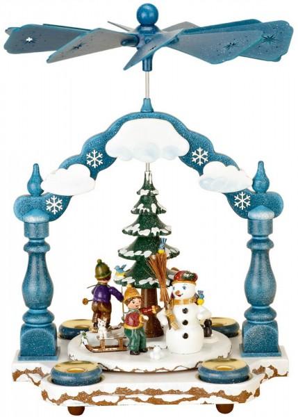 Hubrig Volkskunst Weihnachtspyramide mit Winterkinder