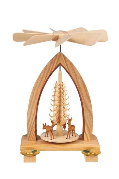 Weihnachtspyramide mit Rehe, 26 cm hergestellt von Heinz Lorenz Olbernhau/ Erzgebirge_Bild1