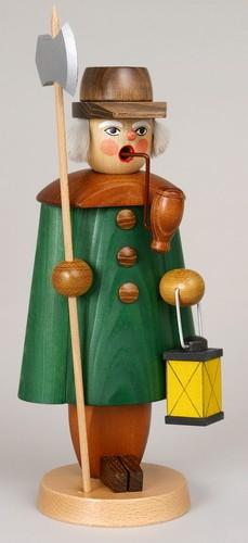 Räuchermann Nachtwächter, grün, 27 cm, Jan Stephani Seiffen/ Erzgebirge