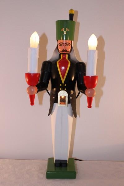 Bergmann mit Bauchlampe, bunt, elektrisch beleuchtet, mit seperatem Trafo, 50 cm von Nestler-Seiffen.com OHG Seiffen/ Erzgebirge