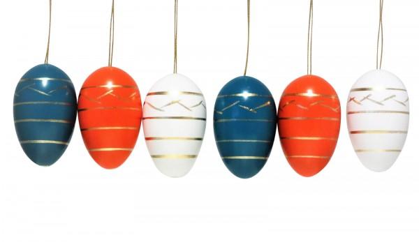 Nestler-Seiffen, Ostereier, 6 Stück, 3-farbig_Bild1
