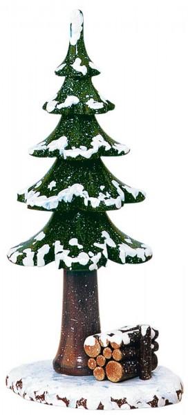 Winterkind großer Winterbaum von Hubrig Volkskunst GmbH Zschorlau/ Erzgebirge ist 17 cm groß.