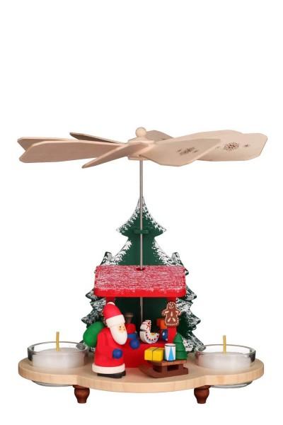 Weihnachtspyramide Weihnachtsmann auf Striezelmarkt, 20 cm von Christian Ulbricht