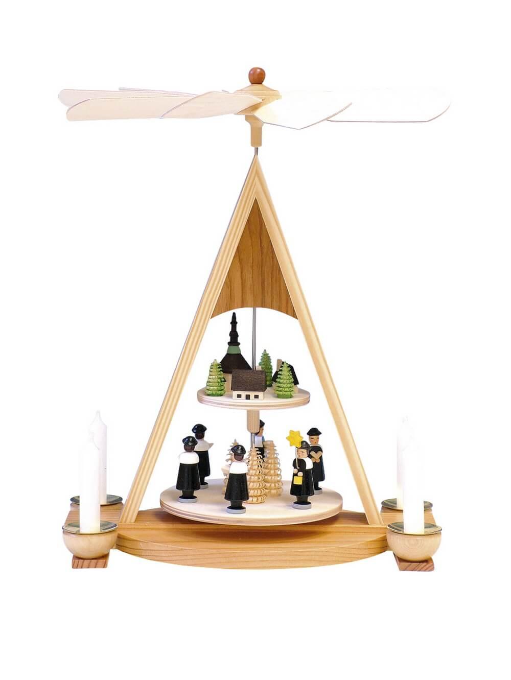 Knuth Neuber, Weihnachtspyramide Kurrende mit Seiffener Dorf