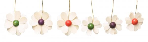 Frühlingsdeko Blüten, 6-teilig, natur 3,5 cm von Thomas Preißler Seiffen/ Erzgebirge Größe: ca. 3,5 cm Material: heimische Hölzer, hochwertige Farben und Lacke