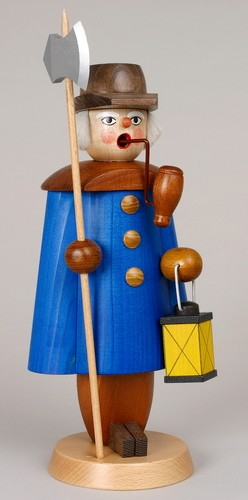 Räuchermann Nachtwächter, blau, 27 cm, Jan Stephani Seiffen/ Erzgebirge