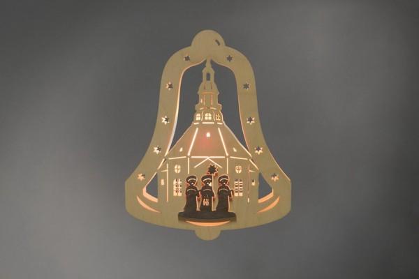 Weihnachtlicher Fensterschmuck & beleuchtetes Fensterbild Glocke Kurrende, elektrisch beleuchtet von Weigla - Günter Gläser Deutschneudorf/ Erzgebirge Das …