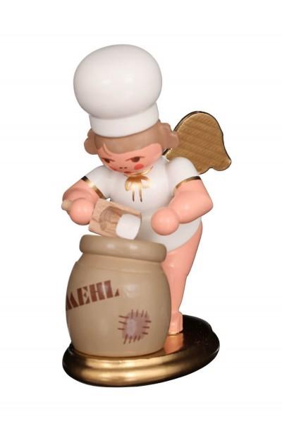 Weihnachtsengel - Bäckerengel mit Mehlsack, 8 cm, Christian Ulbricht GmbH & Co KG Seiffen/ Erzgebirge