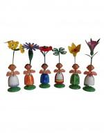 Vorschau: Blumenkinder von WEHA-Kunst Mädchen, 6 Stück, 11 cm_Bild4