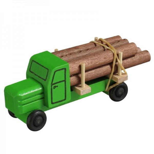 LKW gehören zu den klassischen Kinderspielzeugen im Bereich Fahrzeuge. Die Bäume sind gefällt. Nun müssen sie zur Verarbeitung gebracht werden. Wer kann das …