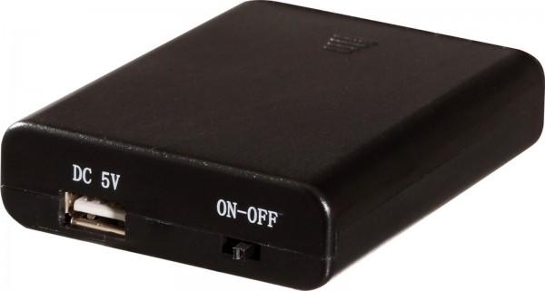 Batteriebox für LED-Leuchterbogen von Seiffener Volkskunst eGSeiffen/ Erzgebirge. Sie benötigen für diese Box 4 x AA Batterien, mit USB Anschluß 5 V …