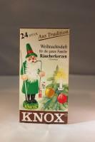 Vorschau: Räucherkerzen - Weihnachtsduft, 24 Stück pro Packung von KNOX - Apotheker Hermann Zwetz