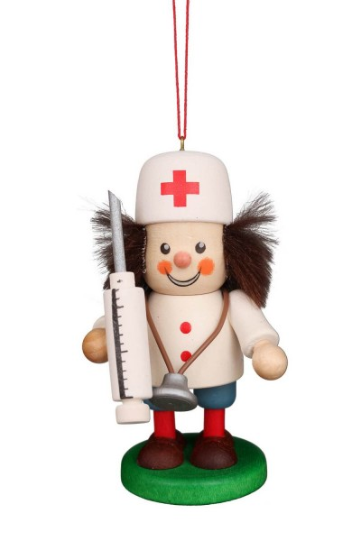 Baumbehang &Christbaumschmuck Strolch Arzt, 10 cm von Christian Ulbricht GmbH & Co KG Seiffen/ Erzgebirge