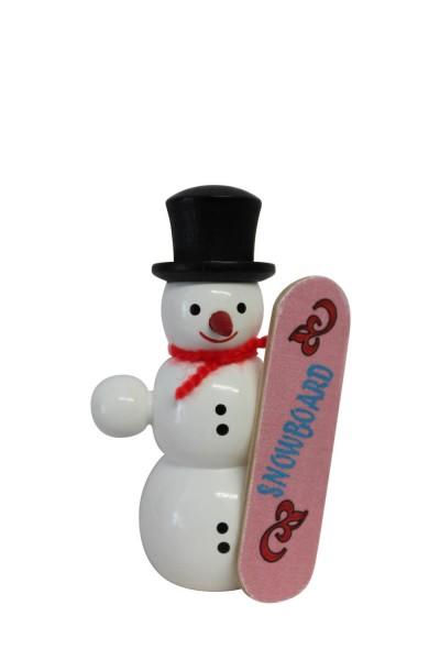 Nestler-Seiffen, Dekofigur Schneemann mit Snowboard
