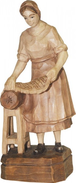Klöppelfrau, geschnitzt, gebeizt von Schnitzkunst aus dem Erzgebirge_Bild2