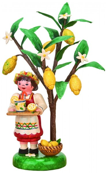 Jahresfigur 2020 von Hubrig Volkskunst mit dem Motiv Mädchen mit Zitronenbaum