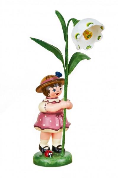 Blumenkinder - Blumenkind Mädchen mit Märzenbecher, 11 cm von Hubrig Volkskunst GmbH Zschorlau/ Erzgebirge