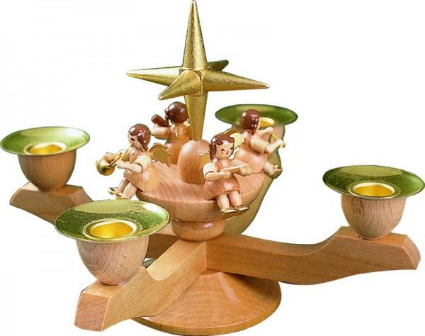 Richard Glässer Adventsleuchter mit Weihnachtsengel, natur