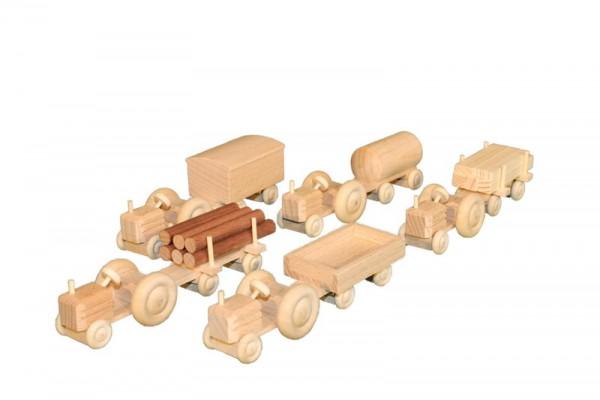 Holztraktor Pritsche, natur, 10 cm, Spielalter ab 3 Jahre, Erzgebirgische Holzspielwaren Ebert GmbH Olbernhau/ Erzgebirge