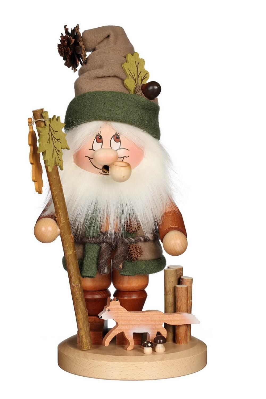 Räuchermännchen Wichtel mit Fuchs mit der typischen Knubbelnase und dem freundlichen Gesicht von Christian Ulbricht GmbH & Co KG Seiffen/ Erzgebirge ist …