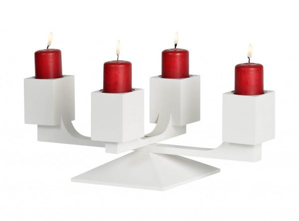 KWO Adventsleuchter Motiv Varius Eiche Farbe weiß_Bild1