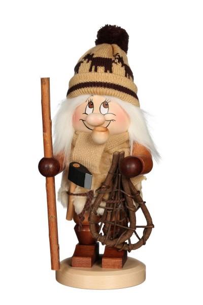 Räuchermännchen Wichtel Holzmacher mit seinem freundlichen Gesicht und der Knubbelnase von Christian Ulbricht GmbH & Co KG Seiffen/ Erzgebirge ist 31 …