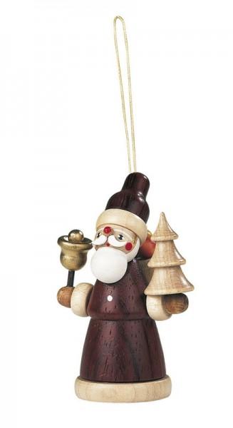 Baumbehang & Christbaumschmuck Weihnachtsmann, natur, 8 cm, Müller GmbH Kleinkunst aus dem Erzgebirge
