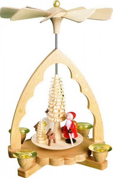 Weihnachtspyramide Nikolaus, natur, 19 cm, Richard Glässer GmbH Seiffen/ Erzgebirge