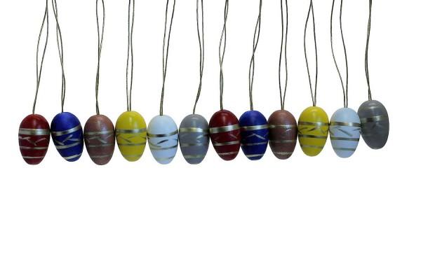 Ostereier von Nestler-Seiffen, 12 Stück, handbemalt_Bild1
