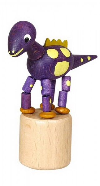Wackelfigur lila Dinosaurier von Jan Stephani
