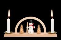 Vorschau: Minischwibbogen von Nestler-Seiffen mit Schneemann für Wachskerzen _Bild2