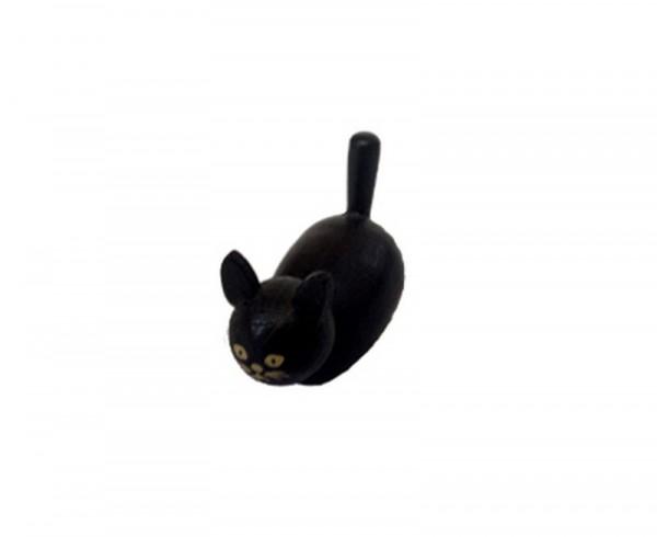 Katze, 4 cm, Spielwarenmacher Günther Seiffen/ Erzgebirge