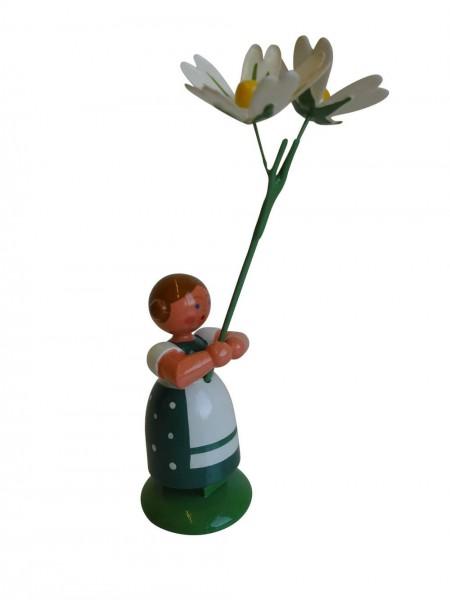 Blumenkinder - Wiesenblumenkind Mädchen mit Sternmiere, 11 cm von WEHA-Kunst Dippoldiswalde/ Erzgebirge