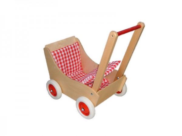 Puppenwagen Laura aus Holz von Holz-Wenzel mit Garnitur