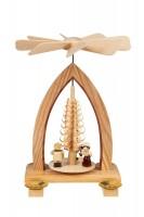 Vorschau: Weihnachtspyramide mit Lampionkinder, natur, 26 cm hergestellt von Heinz Lorenz Olbernhau/ Erzgebirge_Bild1