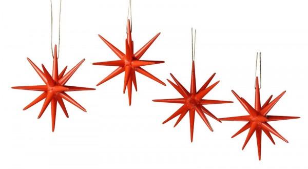Christbaumschmuck Weihnachtssterne rot, 4-teilig hergestellt von Albin Preißler_Bild1