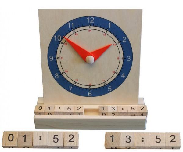 Tick, tack – unaufhaltsam vergeht die Zeit. Mit dieser Wanduhr aus Holz lässt sie sich ab und zu auch mal anhalten. Spielerisch vermittelt sie Kindern ein …