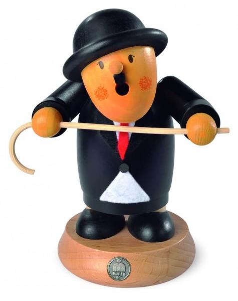 Räuchermann Charlie Chaplin aus Holz von Müller Kleinkunst aus Seiffen