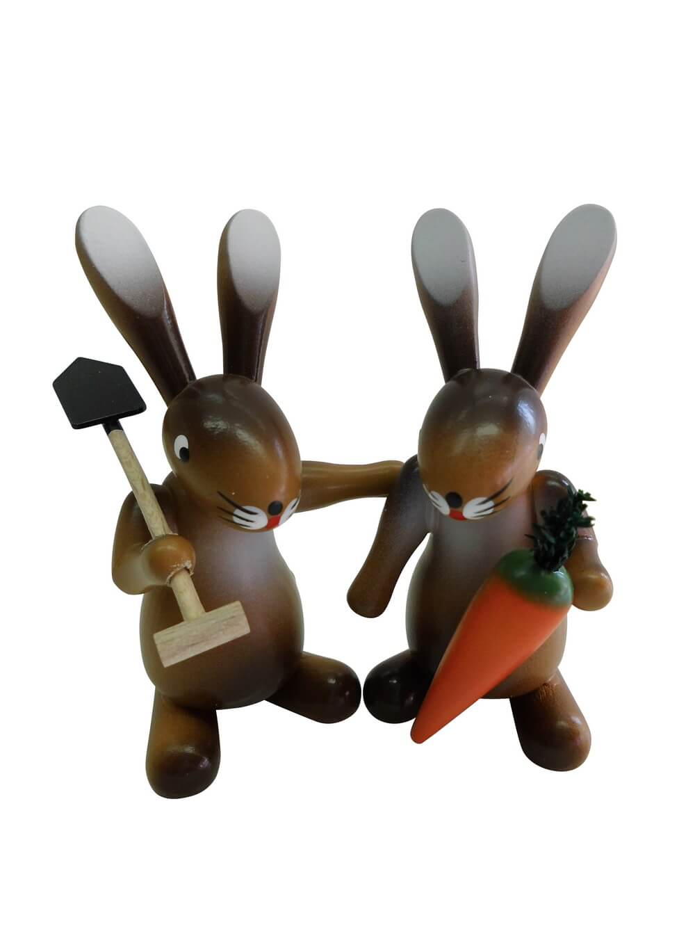 Osterhasenpaar Hasenfreunde, hochwertig handbemalt, 7 cm, Nestler-Seiffen.com OHG Seiffen/ Erzgebirge
