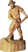Vorschau: Bauer mit Sense, geschnitzt in verschiedenen Größen von Schnitzkunst aus dem Erzgebirge_Bild1