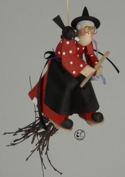 Holzschnitzerei Hexe, 22 cm von Bettina Franke Deutschneudorf/ Erzgebirge Höhe: ca. 22 cm Material: heimische Hölzer, hochwertige Farben und Lacke