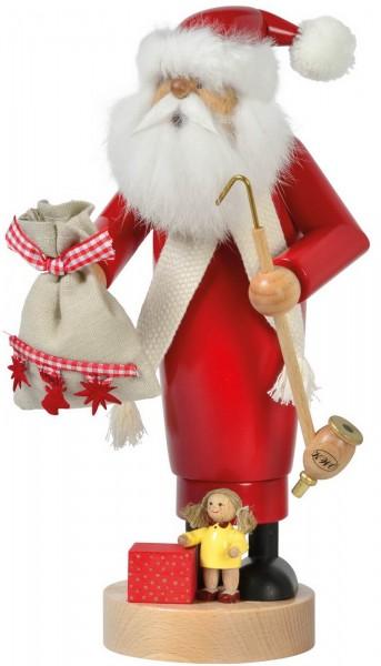 Räuchermännchen von KWO Weihnachtsmann mit Puppe, 25 cm