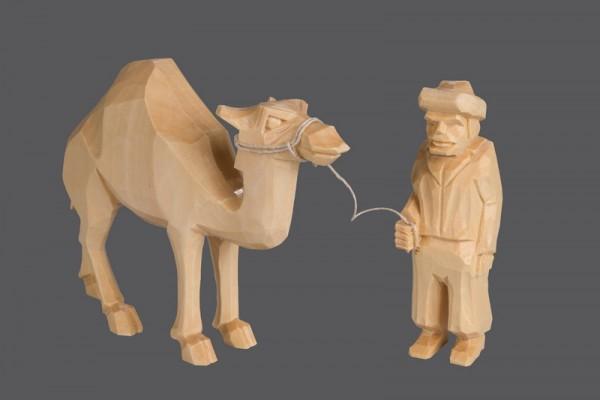 Nestler-Seiffen,Kameltreiber mit Kamel, geschnitzt, natur