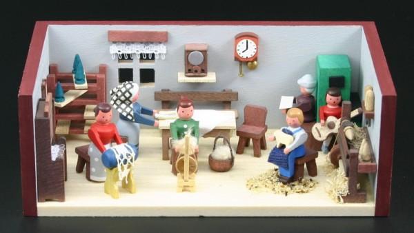 Miniaturstübchen Hutzenstube von Gunter Flath aus Seiffen / Erzgebirge Detailgetreue Nachbildung einer Hutzenstube aus früheren Zeiten. Hier kann man genau …
