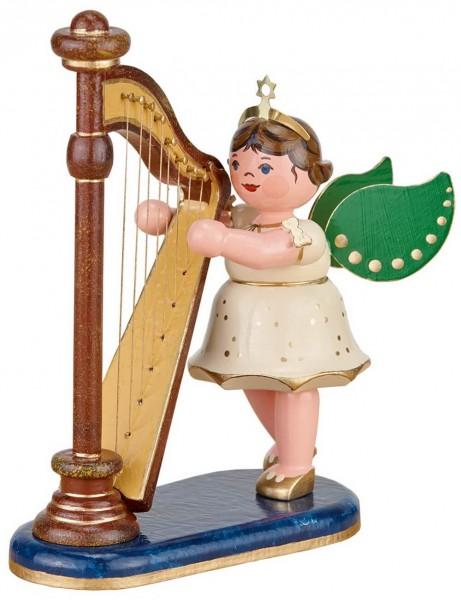 Weihnachtsengel von Hubrig Volkskunst mit Harfe
